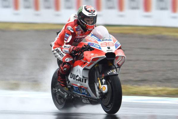 2017 Moto3 Championship - Round 15 Motegi, Japan. Friday 13 October 2017 Jorge Lorenzo, Ducati Team World Copyright: Gold and Goose / LAT Images ref: Digital Image 696292