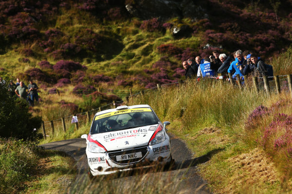 2017 British Rally Championship, Ulster Rally, Londonderry. 18th - 19th August 2017. William Creighton / Liam Regan Peugeot 208 R2 World Copyright: JEP/LAT Images.