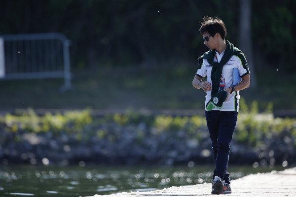 Circuit Gilles Villeneuve, Montreal, Canada. Saturday 7 June 2014. Kamui Kobayashi, Caterham F1. World Copyright: Charles Coates/LAT Photographic. ref: Digital Image _J5R1013