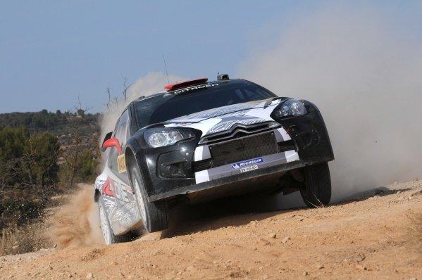 Kimi Raikkonen (FIN), Citroen DS3 WRC, on stage 3. FIA World Rally Championship, Rd12 Rally Catalunya, Salou, Spain, Day One, Friday 21 October 2011.