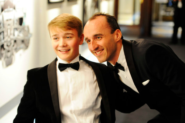 2017 Autosport Awards Grosvenor House Hotel, Park Lane, London. Sunday 3 December 2017. Robert Kubica meets Billy Monger. World Copyright: Ashleigh Hartwell/LAT Images Ref: Digital Image _AKH2441