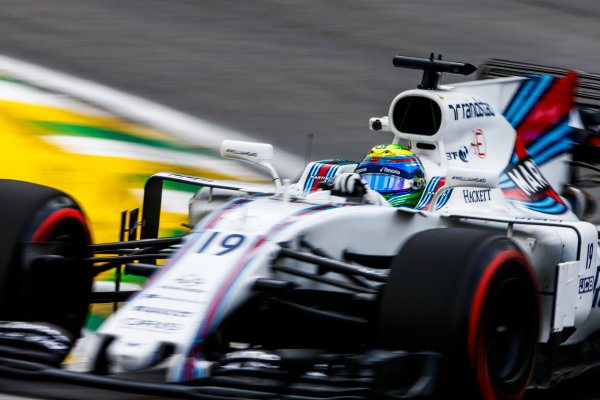 Interlagos, Sao Paulo, Brazil. Friday 10 November 2017. Felipe Massa, Williams FW40 Mercedes. World Copyright: Andy Hone/LAT Images  ref: Digital Image _ONZ4033
