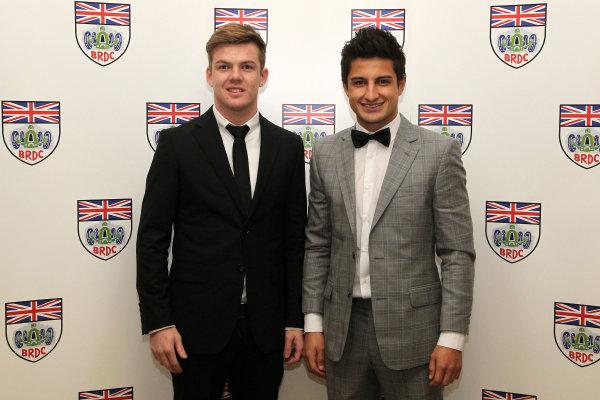 2015 British Racing Drivers Club Awards Grand Connaught Rooms, London Monday 7th December 2015 Nick Cassidy and Mitch Evans. World Copyright: Jakob Ebrey/LAT Photographic ref: Digital Image CassidyEvans-01