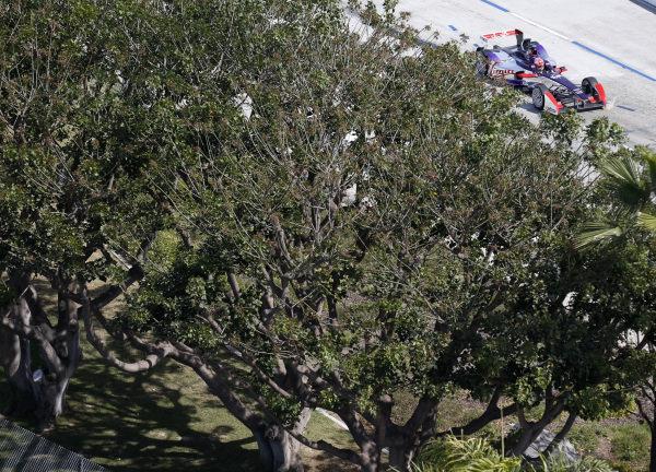 2014/2015 FIA Formula E Championship. Long Beach ePrix, Long Beach, California, United States of America. Friday 3 April 2015 Jaime Alguersuari (SPA)/Virging Racing - Spark-Renault SRT_01E  Photo: Jed Leicester/LAT/Formula E ref: Digital Image _JL20215