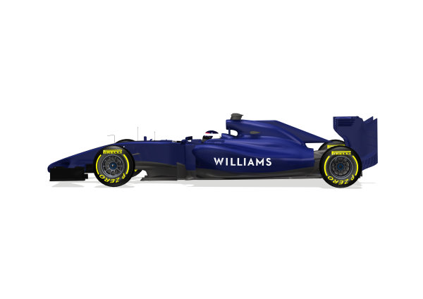Williams FW36 Online Launch Images 23 January 2014 Photo: Williams (Copyright Free FOR EDITORIAL USE ONLY) ref: Digital Image WF1_FW36_SIDE