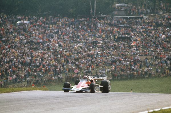 Osterreichring, Zeltweg, Austria. 13-15 August 1976.  John Watson (Penske PC4-Ford) 1st position, taking his maiden Grand Prix win and Penske's only victory, action. World Copyright: LAT Photographic. Ref: 76 AUT 08.