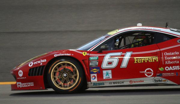 16-17 August, 2013, Kansas City, Kansas USA The #61 Ferrari of Jeff Segal and Alex Tagliani. ©2013, R.D. Ethan LAT Photo USA