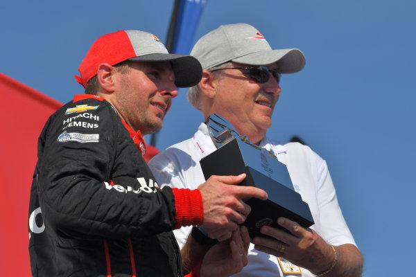 Will Power, Team Penske Chevrolet, third place, victory lane