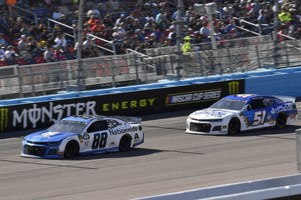#88: Alex Bowman, Hendrick Motorsports, Chevrolet Camaro Nationwide and #51: Cody Ware, Petty Ware Racing, Chevrolet Camaro Jacob Companies