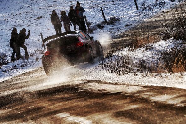 Stephane Lefebvre (FRA) / Gabin Moreau (FRA), Citroen Total Abu Dhabi World Rally Team Citroen C3 WRC at FIA World Rally Championship, Rd1, Rally Monte Carlo, Day One, Monte Carlo, Monaco, 20 January 2017.