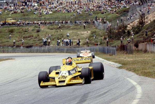 1979 Brazilian Grand Prix.Interlagos, Sao Paulo, Brazil.2-4 February 1979.Jean-Pierre Jabouille (Reanult RS01) 10th position.Ref-79 BRA 16.World Copyright - LAT Photographic
