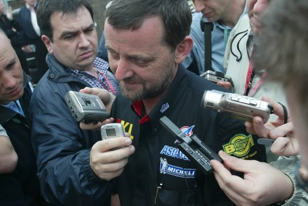 Paul Stoddart (AUS) KL Minardi Team Owner faces the media after his comments about Arrows Boss Tom Walkinshaw (GBR) and the future of Prost GP.Australian Grand Prix Practice, Albert Park, Melbourne, 01 March 2002DIGITAL IMAGE