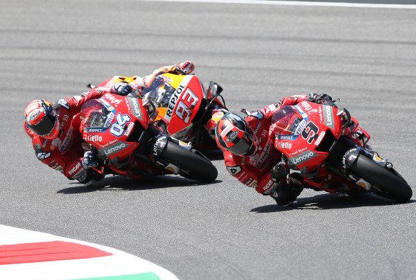 Danilo Petrucci, Ducati Team, Andrea Dovizioso, Ducati Team & Marc Marquez, Repsol Honda Team MotoGP.