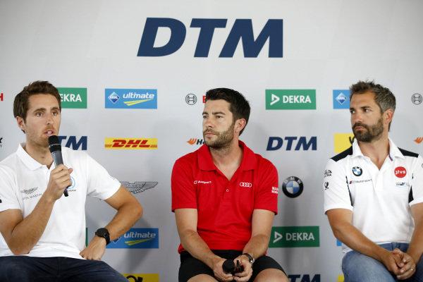 Press Conference, Daniel Juncadella, R-Motorsport, Mike Rockenfeller, Audi Sport Team Phoenix, Timo Glock, BMW Team RMG.