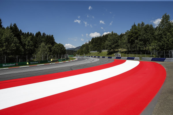 Track view at Formula One World Championship, Rd9, Austrian Grand Prix, Preparations, Spielberg, Austria, Thursday 6 July 2017.