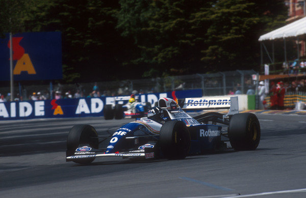 1994 Australian Grand Prix.Adelaide, Australia.11-13 November 1994.Damon Hill (Williams FW16B Renault). He exited the race after he was hit by Michael Schumacher when he made a move to take the lead of the race.Ref-94 AUS 17.World Copyright - LAT Photographic