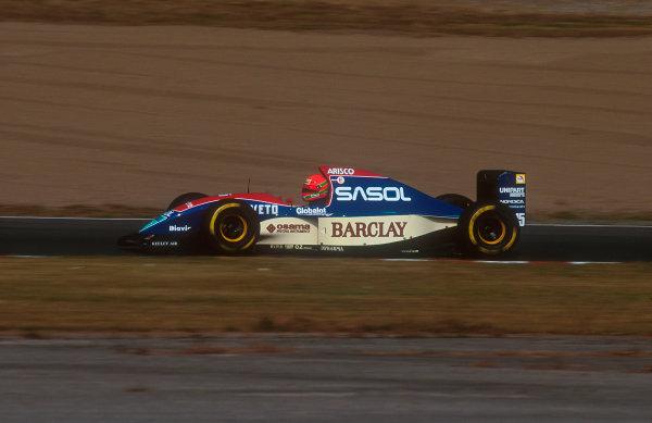 1993 Japanese Grand Prix.Suzuka, Japan.22-24 October 1993.Eddie Irvine (Jordan 193 Hart) 6th position on his Grand Prix debut.Ref-93 JAP 03.World Copyright - LAT Photographic