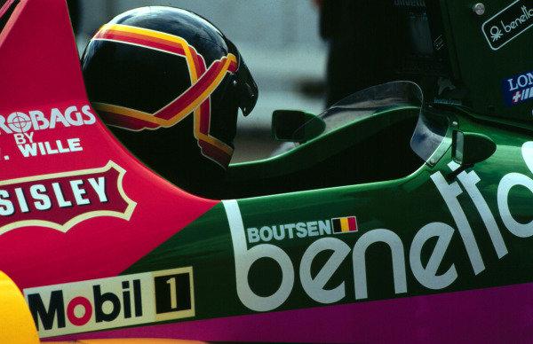 1987 Austrian Grand Prix.Osterreichring, Zeltweg, Austria.14-16 August 1987.Thierry Boutsen (Benetton Ford) 4th position.World Copyright - LAT Photographic