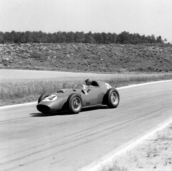 1959 French Grand Prix.Reims, France.3-5 July 1959.Tony Brooks (Ferrari Dino 246) 1st position.Ref-4380.World Copyright - LAT Photographic