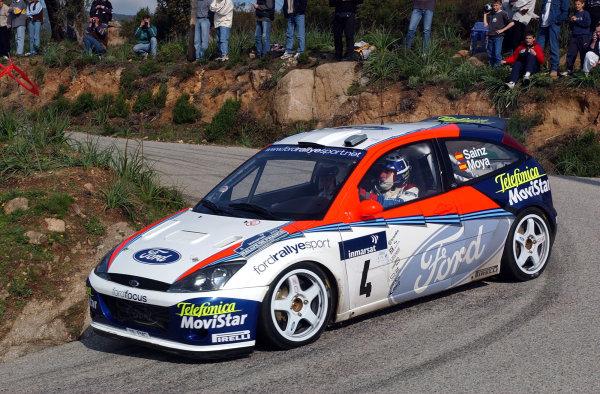 2002 World Rally ChampionshipInmarsat Corsica Rally, 8th-10th March 2002.Carlos Sainz on stage 13.Photo: Ralph Hardwick/LAT