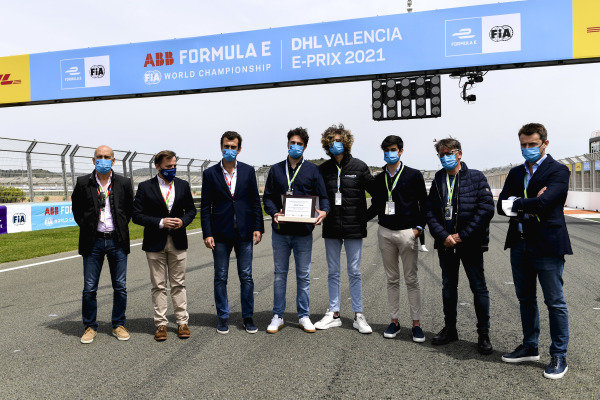 A memorial to Adrian Campos on the grid