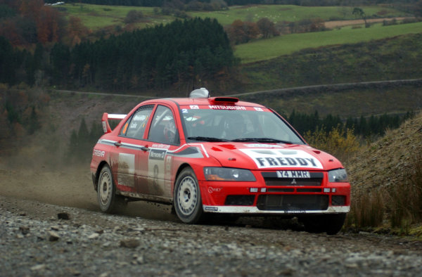 2001 FIA World Rally Championship.Rally of Great Britain. Cardiff, Wales. November 22-25, 2001.Freddy Loix on Stage 6 - Halfway.Photo: Ralph Hardwick/LAT