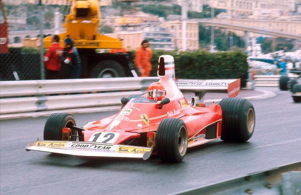 1975 Monaco Grand Prix.Monte Carlo, Monaco.9-11 May 1975.Niki Lauda (Ferrari 312T) 1st position.Ref-75 MON 04.World Copyright - LAT Photographic