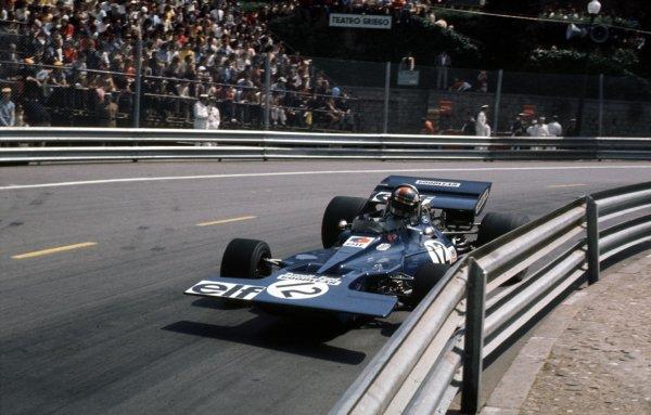 1971 Spanish Grand Prix.Monjuich Park, Barcelona, Spain.16-18 April 1971.Francois Cevert (Tyrrell 002 Ford) 7th position.Ref-71 ESP 16.World Copyright - LAT Photographic
