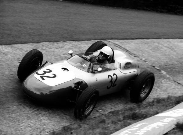 Heini Walter (SUI) finished fourteenth in the Formula 2 Ecurie Filipinetti Porsche 718. It was his first and only Grand Prix. German Grand Prix, Nurburgring, 5 August 1962.