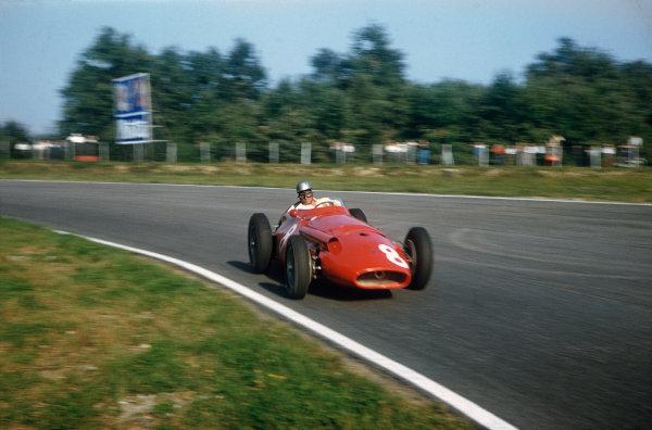 Monza, Italy. 6-8 September 1957. Giorgio Scarlatti, Maserati 250F, 5th position. Ref: 57ITA04. World Copyright - LAT Photographic
