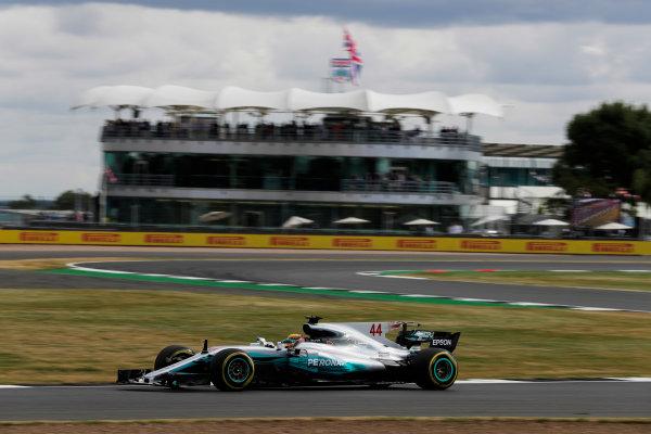 Silverstone, Northamptonshire, UK.  Friday 14 July 2017. Lewis Hamilton, Mercedes F1 W08 EQ Power+. World Copyright: Zak Mauger/LAT Images  ref: Digital Image _54I4557