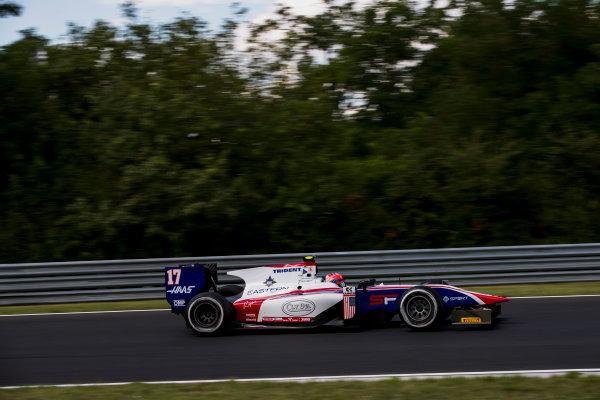 2017 FIA Formula 2 Round 7. Hungaroring, Budapest, Hungary. Friday 28 July 2017. Santino Ferrucci (USA, Trident).  Photo: Zak Mauger/FIA Formula 2. ref: Digital Image _54I1449