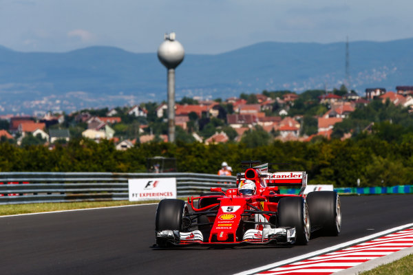 Hungaroring, Budapest, Hungary.  Friday 28 July 2017. Sebastian Vettel, Ferrari SF70H. World Copyright: Andy Hone/LAT Images  ref: Digital Image _ONY9276