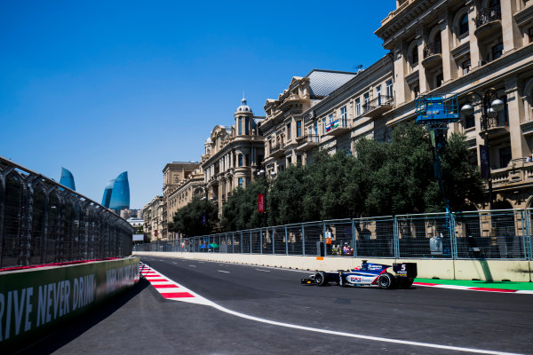 2017 FIA Formula 2 Round 4. Baku City Circuit, Baku, Azerbaijan. Friday 23 June 2017. Luca Ghiotto (ITA, RUSSIAN TIME)  Photo: Zak Mauger/FIA Formula 2. ref: Digital Image _54I9575