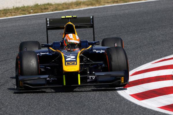 2015 GP2 Series Round 2. Circuit de Catalunya, Barcelona, Spain. Sunday 10 May 2015. Alex Lynn (GBR, DAMS). Photo: Zak Mauger/GP2 Series Media Service. ref: Digital Image _L0U5766