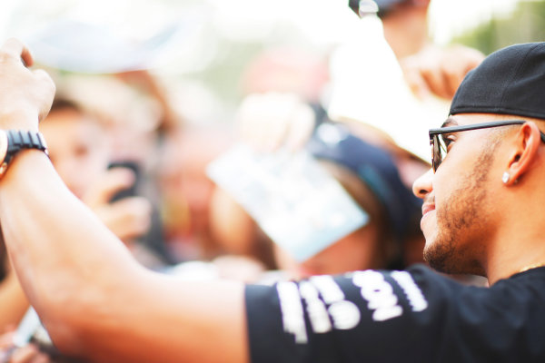 Autodromo Nazionale di Monza, Monza, Italy. Thursday 3 September 2015. Lewis Hamilton, Mercedes AMG. World Copyright: Alastair Staley/LAT Photographic ref: Digital Image _R6T7663