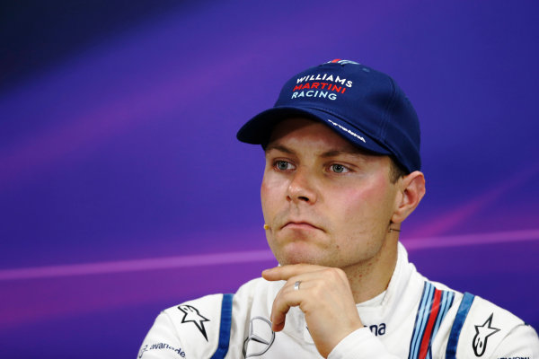 Suzuka Circuit, Suzuka, Japan.  Saturday 26 September 2015. Valtteri Bottas, Williams FW37 Mercedes, in the post qualifying Press Conference. World Copyright: Steven Tee/LAT Photographic ref: Digital Image _L4R1536