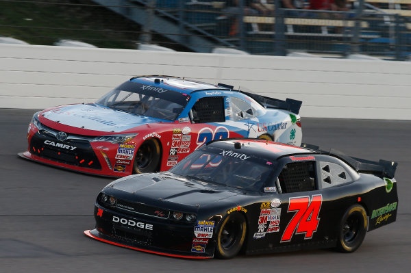 31 July - 1 August, 2015, Newton, Iowa USA  Mike Harmon and Kenny Wallace, US Cellular Toyota Camry ?2015, Brett Moist LAT Photo USA
