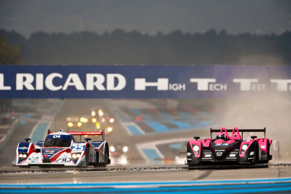 Paul Ricard, France. 9th - 11th April 2010. Tommy Erdos / Mike Newton / Andy Wallace, (RML, Lola HPD Coupe) and Matthieu Lahaye / Jacques Nicolet, (OAK Racing, Pescarolo - Judd). Action World Copyright: Drew Gibson/LAT Photographic. Digital Image _Y2Z9265