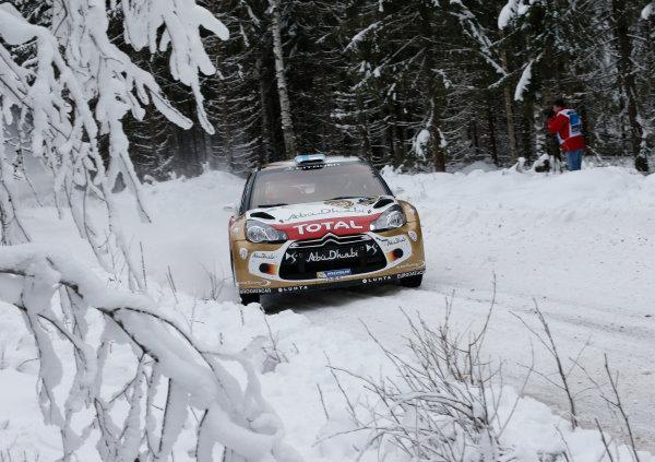 2013 World Rally Championship Swedish Rally 7th - 10th February 2013 Mikko Hirvonen, Citroen, action Worldwide Copyright: McKlein/LAT