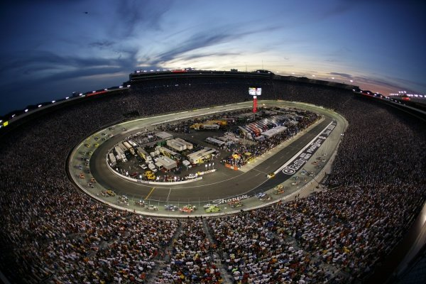 View from the Roof. Sharpie 500, Bristol Motor Speedway, Tennessee, USA, 22-24 August 2008.