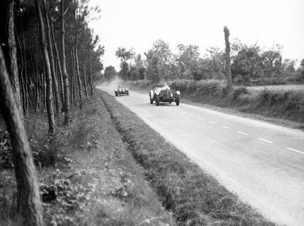 Le Mans, France.13-14 June 1931.Boris Ivanowski/Henri Stoffel (Mercedes-Benz SSK), 2nd position.World Copyright - LAT Photographic