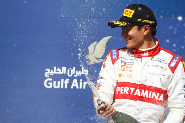 2015 GP2 Series Round 1 - Bahrain International Circuit, Bahrain. Sunday 19 April 2015. Rio Haryanto (INA, Campos Racing)  Photo: Sam Bloxham/GP2 Series Media Service. ref: Digital Image _G7C8981
