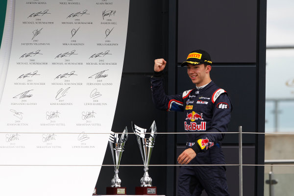 2015 GP2 Series Round 5.  Silverstone, Northamptonshire, England. Sunday 5 July 2015. Pierre Gasly (FRA, DAMS)  Photo:  Sam Bloxham/GP2 Media Service ref: Digital Image _G7C1985