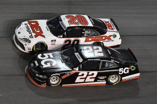 #22: Austin Cindric, Team Penske, Ford Mustang Verizon 5G #20: Harrison Burton, Joe Gibbs Racing, Toyota Supra DEX Imaging