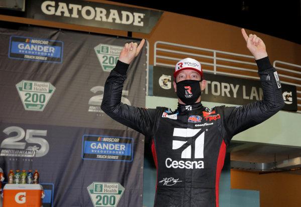 Race winner Kyle Busch, Kyle Busch Motorsports Toyota Cessna,Copyright: Chris Graythen/Getty Images.