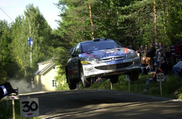 2001 World Rally Championship.Neste Rally Finland. Jyvaskyla, August 24-26, 2001.Sebastian Lindholm on stage 16.Photo: Ralph Hardwick/LAT