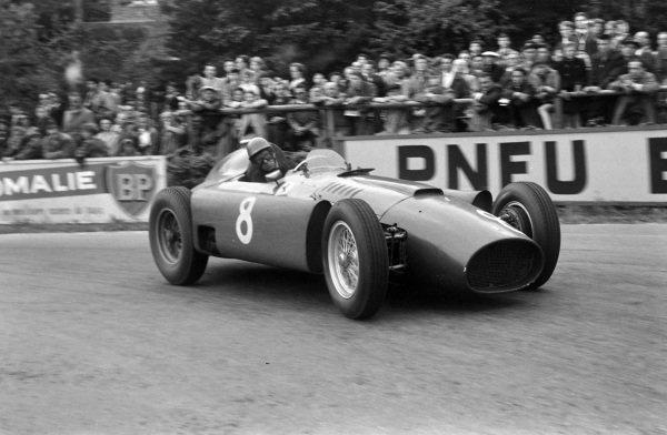 Peter Collins, Ferrari D50.