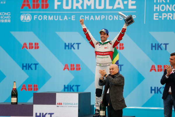 Lucas Di Grassi (BRA), Audi Sport ABT Schaeffler celebrates 3rd position on the podium