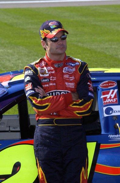 2002 NASCAR,Kansas City,Ks. Sept 26-29, 2002 USA -Jeff Gordon,Copyright-Robt LeSieur2002LAT Photographic